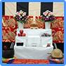 家族葬14万円プラン用祭壇装飾花